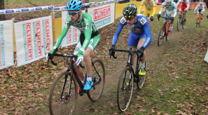Loris au championnat de France de cyclo cross